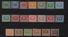 San Marino, Scott 1-14, 16, 18-20, 23-24, Hinged, First Issues, Rare Offering
