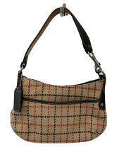 "Vintage Coach  ""Rare "" Tweed Wool Small Baguette F2P-9614"