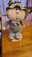 "Vintage 1984 Bumpkin Bunch 14"" TYKE Plush Doll W Stand no tag (spot of shoe)"