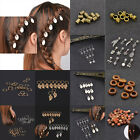 Star Shells Dreadlock Hair Beads Hair Braid Pins Rings Clips DIY 10/12/20/50 Pcs