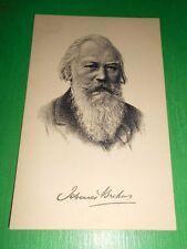 Cartolina Musica - Ritratto del Compositore Johannes Brahms 1930 ca
