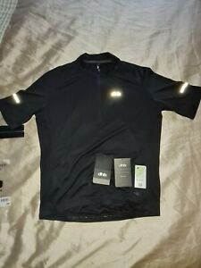 Dhb Cycling Jersey Black  Short Sleeve  Size L