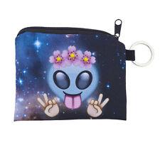 Sign Alien Galaxy Print Makeup Bag Lux Accessories Hippie Flower Crown Peace