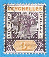 "Seychelles  3 Used  ""Victoria""  (1890)"