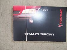 1997 Pontiac Trans Sport Auto Owner Manual GM Driving Instruments Controls Car R