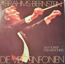 """Brahms - Bernstein Die Vier Symphonies NY-P CBS 79347 12 """" LP [K381]"""