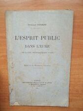L'ESPRIT PUBLIC DANS L'EURE (juillet-septembre 1792)