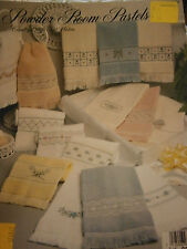 Powder Room Pastels Bathroom Towel Border Cross Stitch Pattern Leaflet Booklet