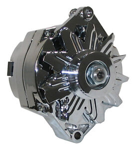 POWERMASTER ALTERNATOR,CHROME,12SI,140AMP,37293,BUICK,CADILLAC,OLDS,PONTIAC