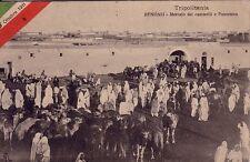 LIBYE - TRIPOLITANIA - BENGASI - MERCATO DEI CAMMELI - 5-10-1911.