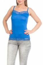 Camisa de mujer de color principal azul de viscosa/rayón