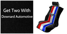 2 - New Mustang Logo Black Seat Armour-Front Seat Covers-Towel Protector-