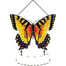 Joan Baker Designs Hand Painted Glass Suncatcher-SFS2008-Yellow/Black Butterfly