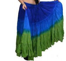 "Shaded ATS Tribal gypsy 25 yards yard belly dance dancing cotton skirt L36"""