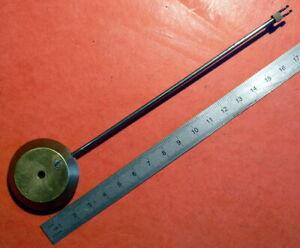 ANCIEN BALANCIER DE PENDULE EN BRONZE  - 18 CM. - 102,4 GRAMMES