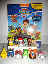 PAW PATROL BUSY BOOK - STORY 12 FIGURES AND A PLAYMAT - CAKE TOPPERS FREE P+P