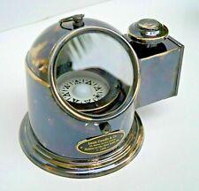 Antique Brass Binnacle Marine Gimbal Compass With Oil Lamp Nautical Ship Helmet