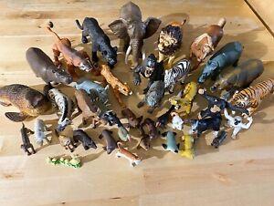 Plastic Rubber Mammals Jungle Animal Lot