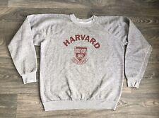 HARVARD Sweatshirt 80s Vtg Triblend University Ivy League Jumper Sweater USA L