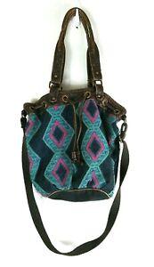 American Eagle Hobo Shoulder Bag Southwestern Distressed Faux Leather Boho