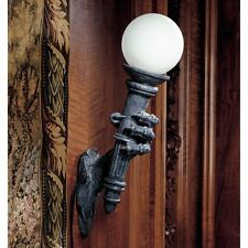 Wall Sconce Lighting Lamp Medieval Dragon Talon Sculpture Halloween Gothic Decor