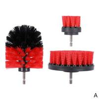 3Pcs Tile Grout Drill Brush Power Scrub Cleaning Tub Cleaner Attachment Kit Set