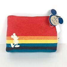 Disney Mickey Mouse Rainbow Cosmetic Makeup Bag Junk Food 90th Anniversary
