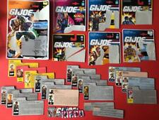 Vintage Gi Joe Action Force Figures Files & Backing Cards Collection Bundle Lot