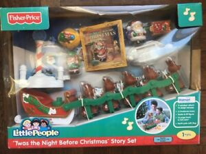 NEW SEALED Fisher Price Little People TWAS THE NIGHT BEFORE CHRISTMAS STORY SET