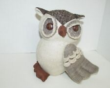 Kohl's Owl home decor burlap mixed materials plush fall decoration