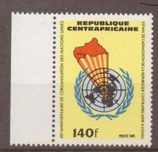 República Centroafricana 1985 uno estampillada sin montar o nunca montada