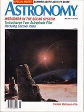 Astronomy Magazine May 1993, Sun's Corona, Volcanos of Io, Pluto Watch