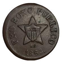 1863 Cwt 191/443 Pro Bono Publico Shield in Star/New York with Wreath