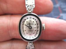 VINTAGE LADIES CROTON MECHANICAL WATCH, RUNNING CLEAN USED .