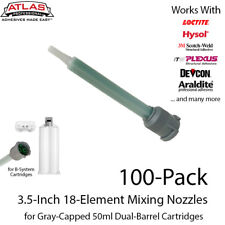 Mixing Nozzles 100 Pack-Green 3.5-Inch 18-Elements-for 50ml Gray-Cap Cartridge