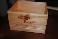caisse bois vin vide giacomo bologna braida imprime 3 faces