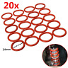 20PCS Orange Tube Dampers Silicone Rings For 12AX7 12AU7 12AT7 12BH7 EL84 NEW