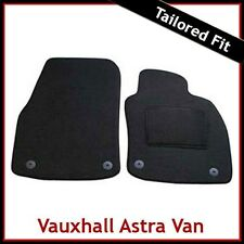 Tailored Black Carpet Floor Mats 4pc Clip Car Mat Set for Vauxhall Astra 04-09