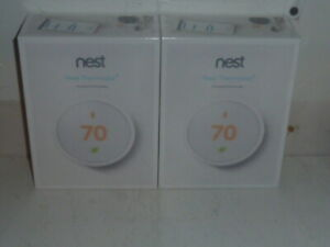 Google Nest Smart ThermostatE Sealed  T4000ES Heat Cool 2-Pack 3rd Generation