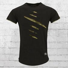 Rusty Neal Männer T-Shirt Slitted schwarz camo Herren Tshirt