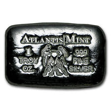 1 oz Silver Bar - Atlantis Mint (Zodiac Series, Gemini) - SKU #103359
