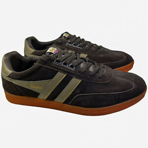 Gola Men's Europa Suede Fashion Lace Up Sneaker Size US 13 EUR 46 Brown/orange