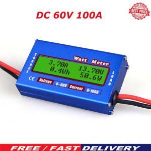 Watt Meter Ammeter Voltage Battery Power Amp Analyzer Digital Monitor DC60V/100A