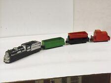 Vintage 1930's Arcor Toys Rubber 4 Piece Train Set Locomotive Caboose & 2 Cars
