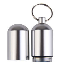 Holder Container Outdoor Survival Pill Bottle Key Chain Aluminum Waterproof