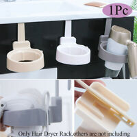 Door Hook Cabinet Bathroom Shelf Hair Dryer Holder Hairdryer Rack Bracket