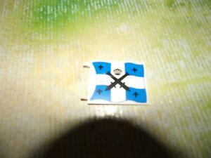 LEGO Piraten Flagge 2525,2335 Fahne Blau/Weiß