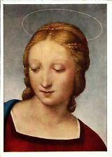 Vecchia cartolina Arte-Raffaello-Madonna con il Carduelis (dettaglio)