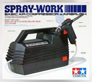 Tamiya Spray Work 74520 Basic Air Compressor with Air Brush