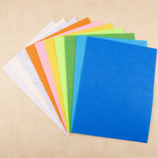 10x A4 Felt Fabric Sheets Lot for Arts Crafts Assorted Color 23x30cm DIY Sewing